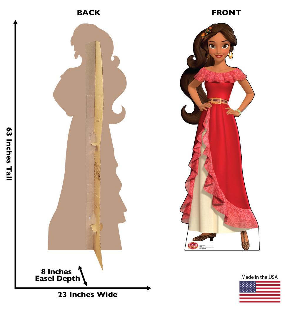 Elena of Avalor Disney Lifesize Cardboard Cutout Dimensions