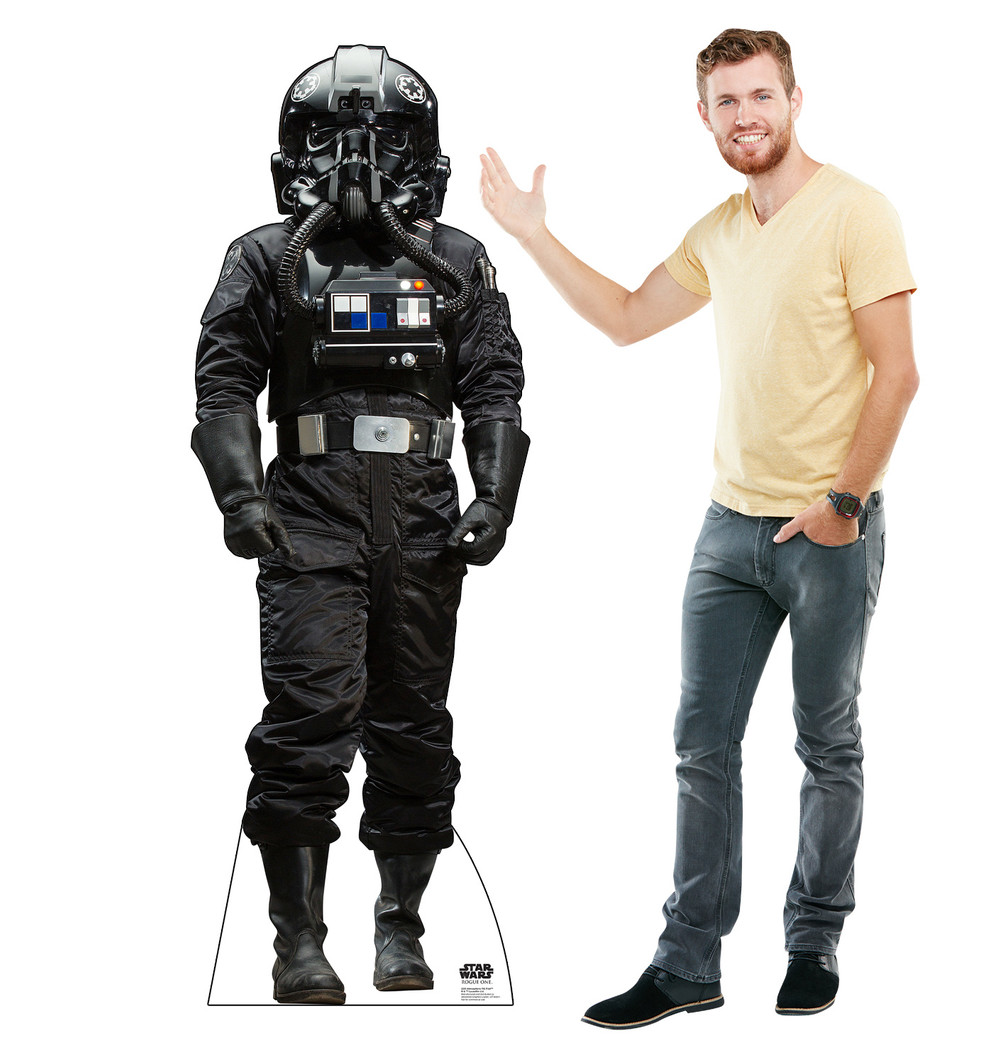 Atmospheric TIE Pilot™ - Rogue One - Star Wars Lifesize Cardboard Cutout with model