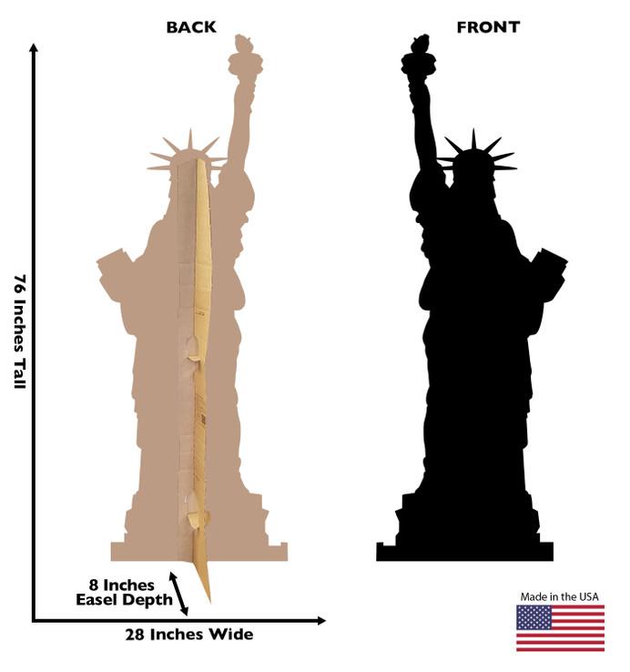 Statue of Liberty Silhouette Lifesize Cardboard Cutout