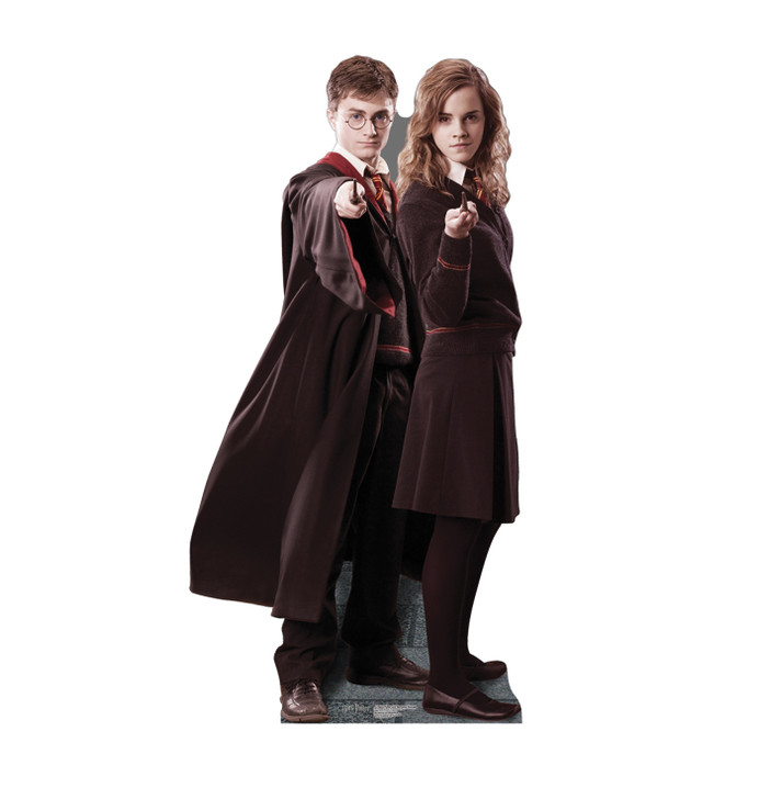Harry & Hermione - Harry Potter Lifesize Cardboard Cutout