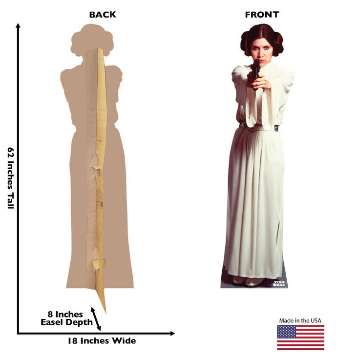 Princess Leia Organa Lifesize Cardboard Cutout Dimensions