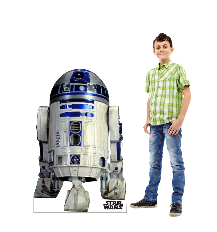 R2-D2 Star Wars Lifesize cardboard cutout with model