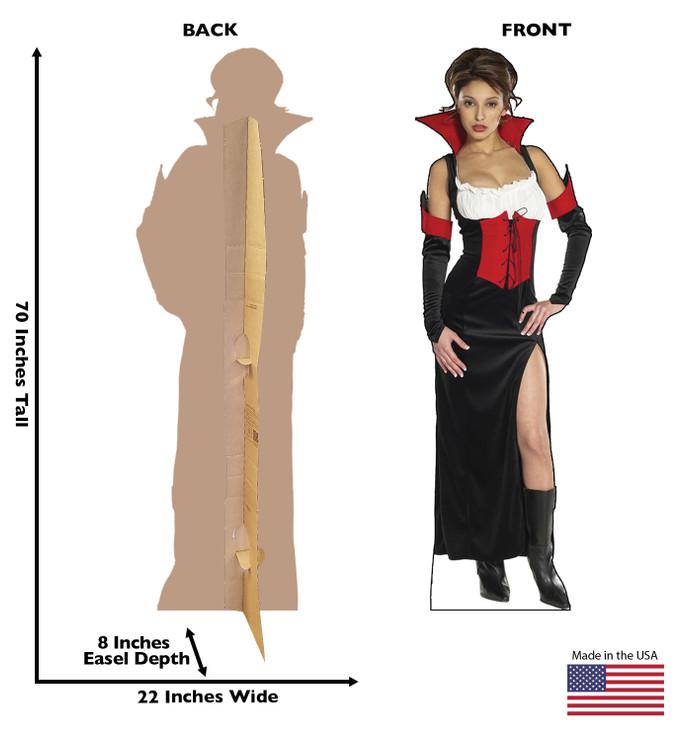 Countess Camella Lifesize Cardboard cutout  Dimensions