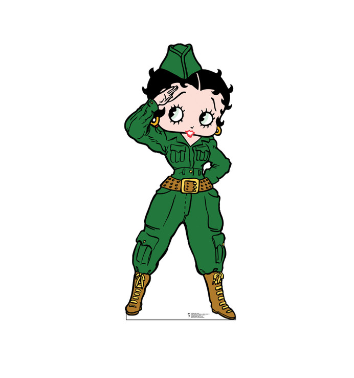 Betty Boop Soldier Lifesize card board cutout