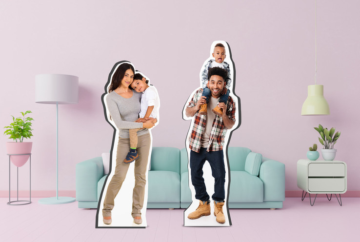 893179644   Life-Size Standup Families - Made with Better than Cardboard Material