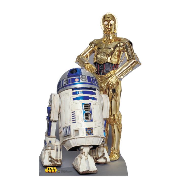R2D2 and C3PO Star Wars Lifesize Cardboard Cutout