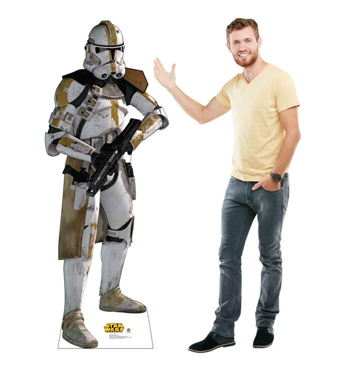 Clone Trooper Star Wars Lifesize Cardboard Cutout with Model