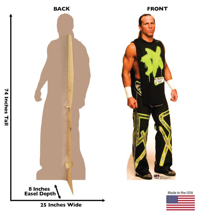 Shawn Michaels WWE Lifesize Cardboard Cutout Dimensions