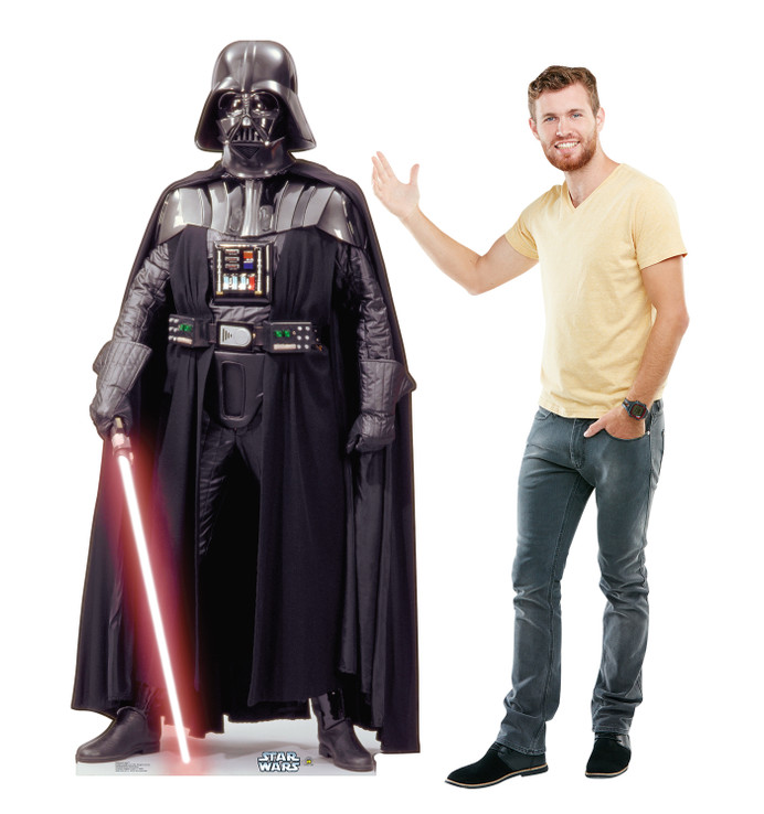 Darth Vader Star Wars Life size cardboard cutout with model