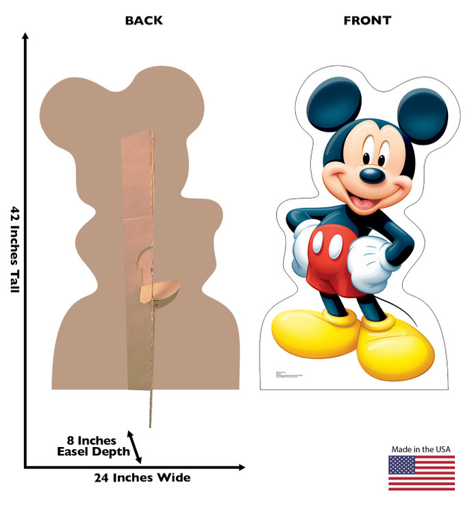 Mickey Mouse Lifesize Cardboard Cutout Dimensions
