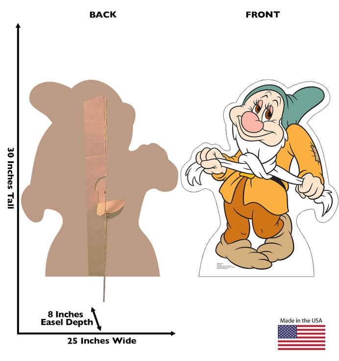Bashful Snow White and the Seven Dwarves Lifesize Cardboard Cutout Dimensions