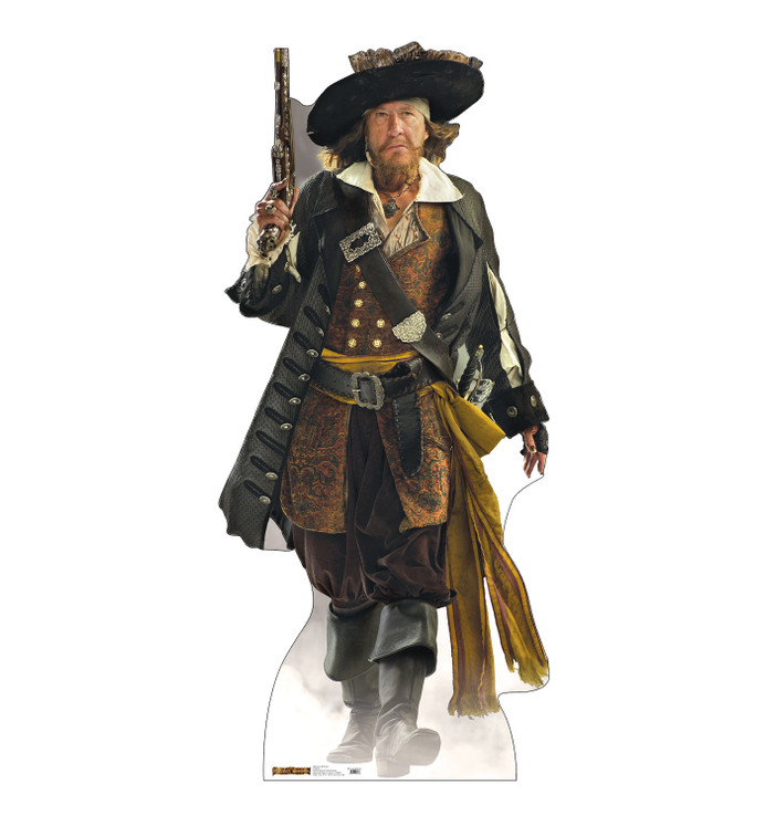 Captain Barbossa Pirates of the Caribbean Lifesize Cardboard Cutout
