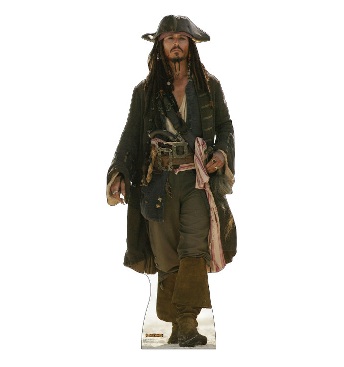 Captain Jack Sparrow Pirates of the Caribbean walking Lifesize Cardboard Cutout