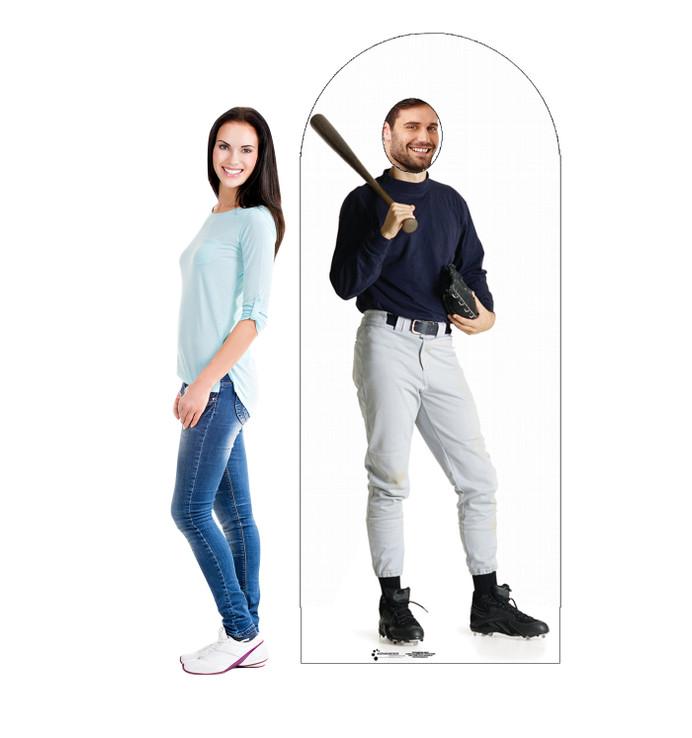 Baseball Player Standin Lifesize Cardboard Cutout with model