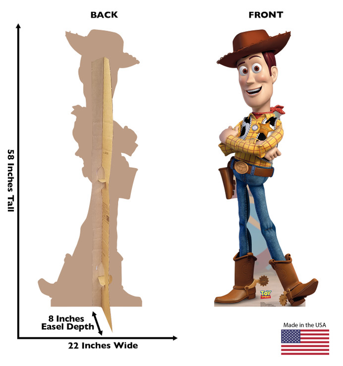 Woody - Toy Story Lifesize Cardboard Cutout Dimensions