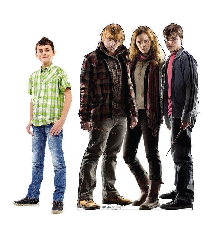 Harry Potter - Hermione - Ron Weasley Lifesize Cardboard Cutout with Model