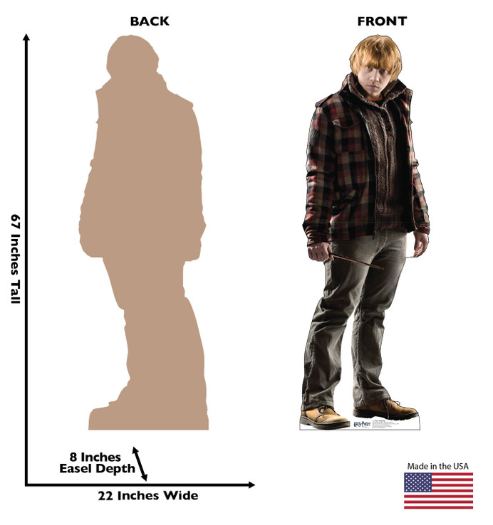 Ron Weasley - Harry Potter  Lifesize Cardboard Cutout Dimensions