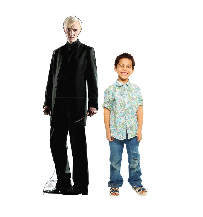 Draco Malfoy - Harry Potter Lifesize Cardboard Cutout with model