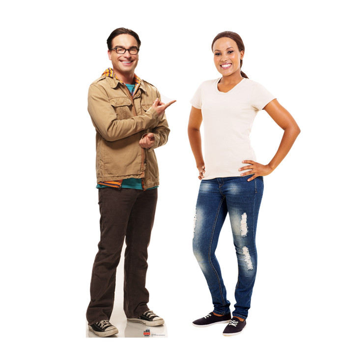 Leonard - Big Bang Theory Lifesize Cardboard Cutout with Model