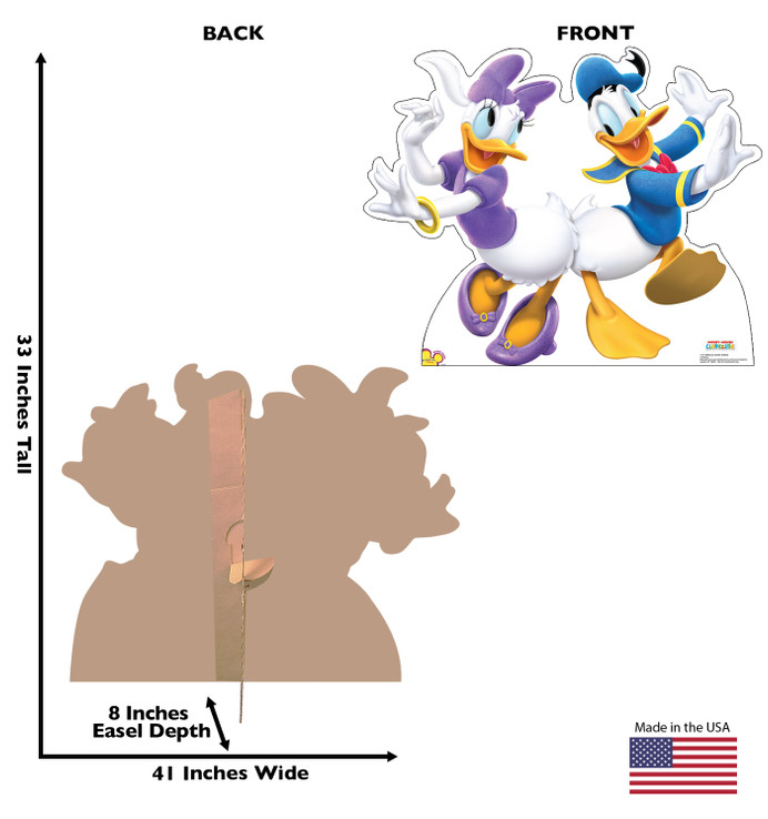 Donald Duck and Daisy Duck Dancing Lifesize Cardboard Cutout Dimensions