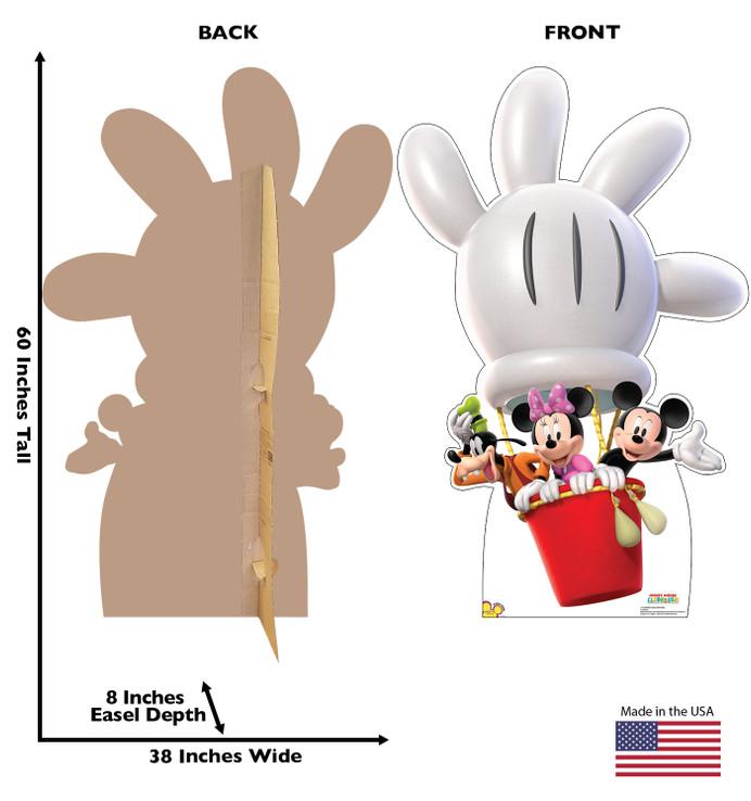 Mickey Balloon Ride Lifesize Cardboard Cutout