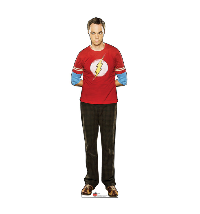 Sheldon - Red Shirt - Big Bang Theory Lifesize Cardboard Cutout
