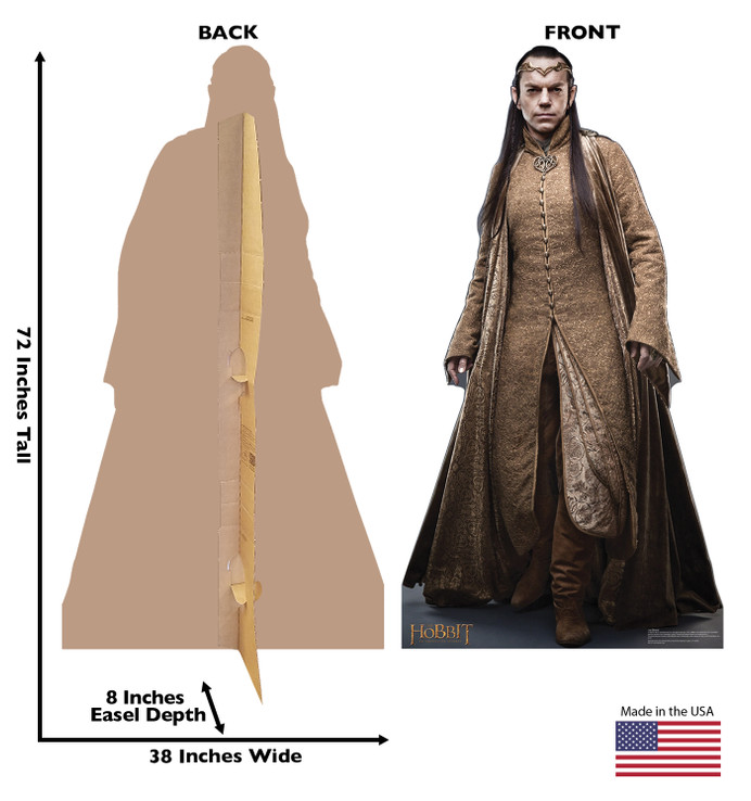 Elrond - The Hobbit Lifesize Cardboard Cutout Dimensions