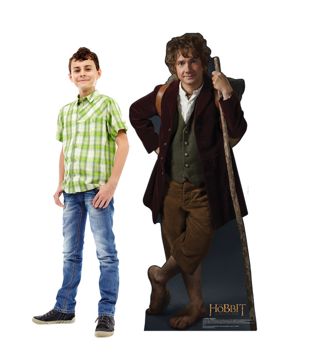 Bilbo Baggins - The Hobbit Lifesize Cardboard Cutout with Model