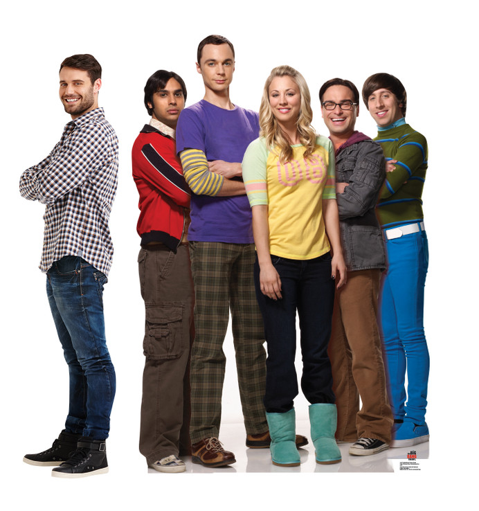 Big Bang Theory Group Lifesize Cardboard Cutout