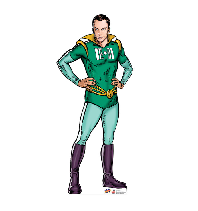 Sheldon Super Hero - Big Bang Theory Lifesize Cardboard Cutout