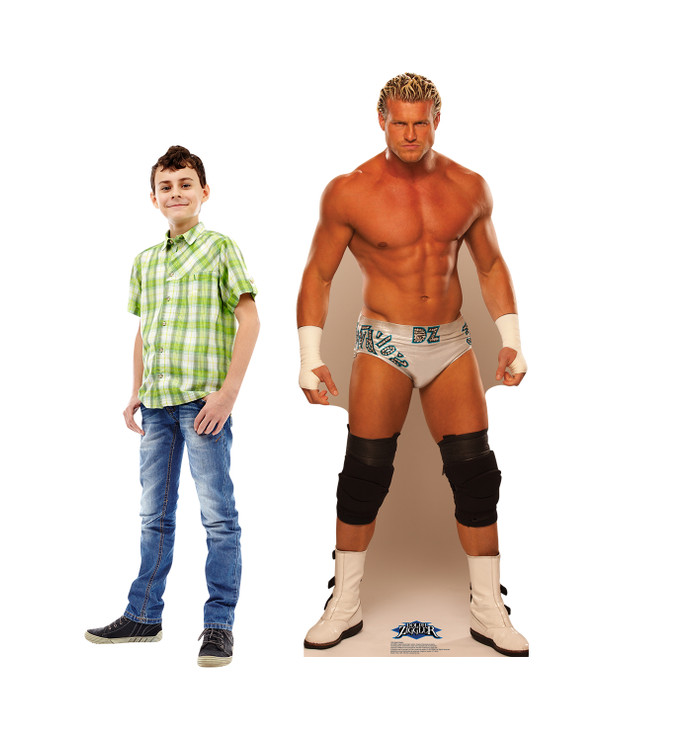 Dolph Ziggler - WWE Lifesize Cardboard Cutout with model
