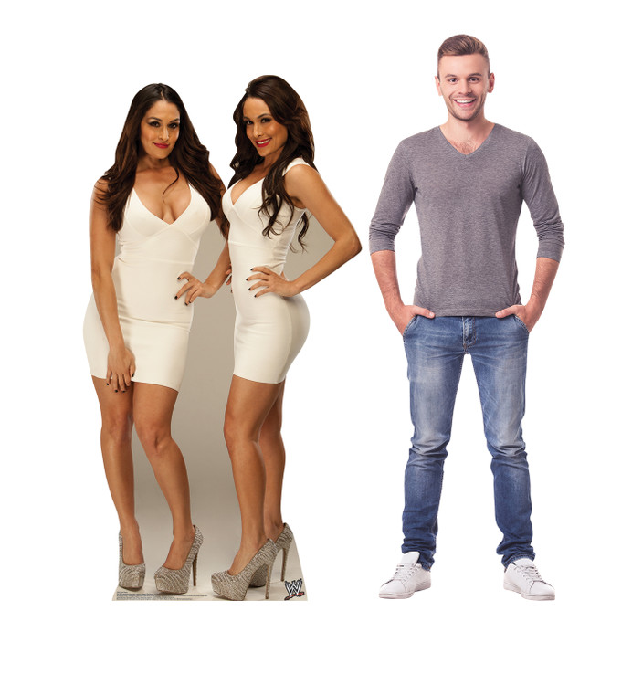 Bella Twins - WWE Lifesize Cardboard Cutout with Model