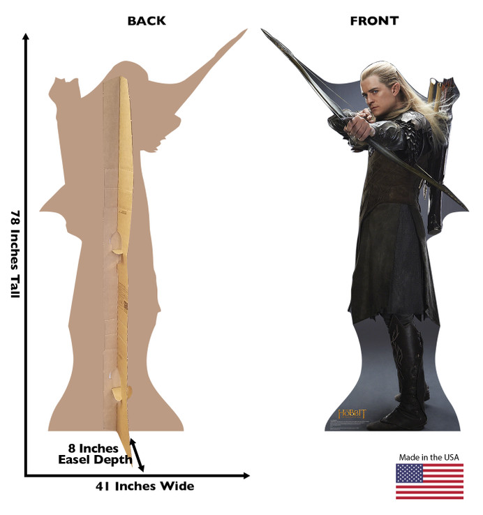 Legolas - The Hobbit - Desolation of Smaug Lifesize Cardboard Cutout Dimensions