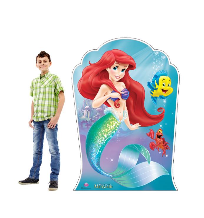 Little Mermaid -  Ariel, Sebastian, and Flounder Lifesize Cardboard Cutout