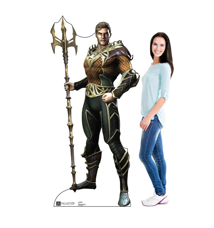 Aquaman - Injustice Gods Among Us Lifesize Cardboard Cutout with model