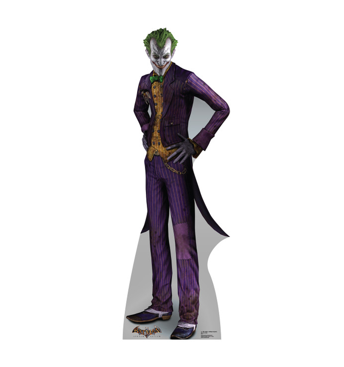 The Joker - Arkham Asylum Lifesize Cardboard Cutout