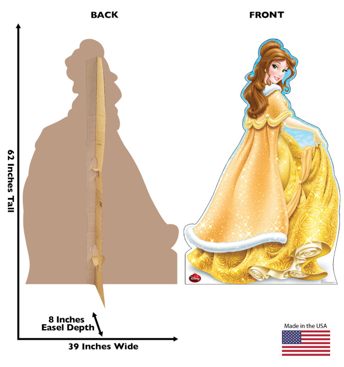 Belle Holiday - Disney Princess - Beauty and the Beast Lifesize Cardboard Cutout
