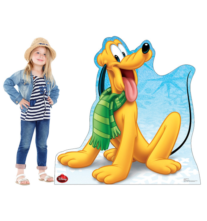 Pluto Holiday - Disney Mickey Mouse and Friends Lifesize Cardboard Cutout