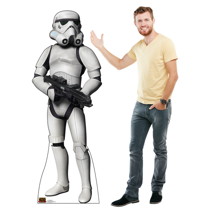 Stormtrooper - Star Wars Rebels Lifesize Cardboard Cutout with Model