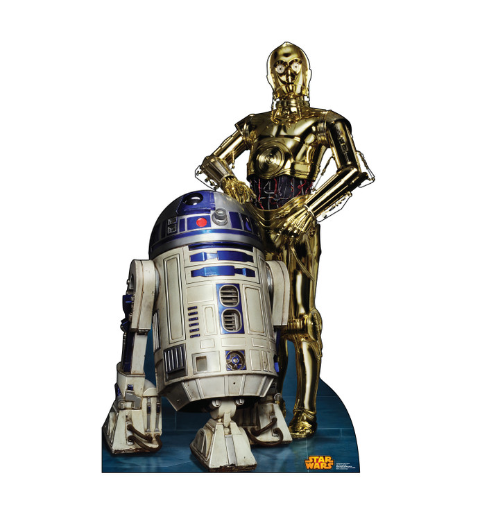 R2D2 and C3PO - Star Wars Classics Retouched Lifesize Cardboard Cutout