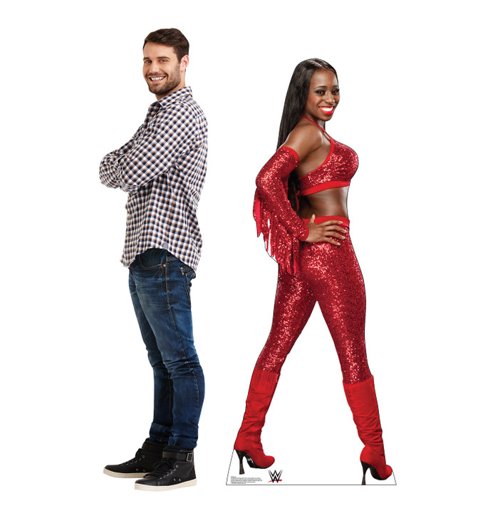 Naomi - WWE Lifesize Cardboard Cutout with Model