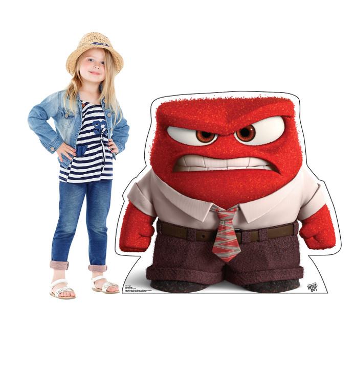 Anger - Disney Pixar - Inside Out Lifesize Cardboard Cutout  with Model