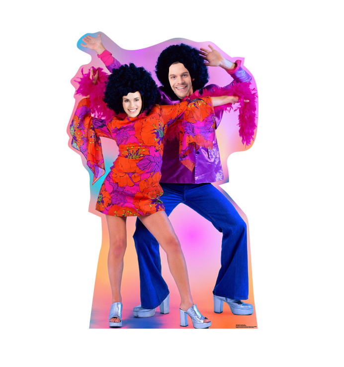70's Disco Dance Couple Stand in Lifesize Cardboard Cutoutwith model