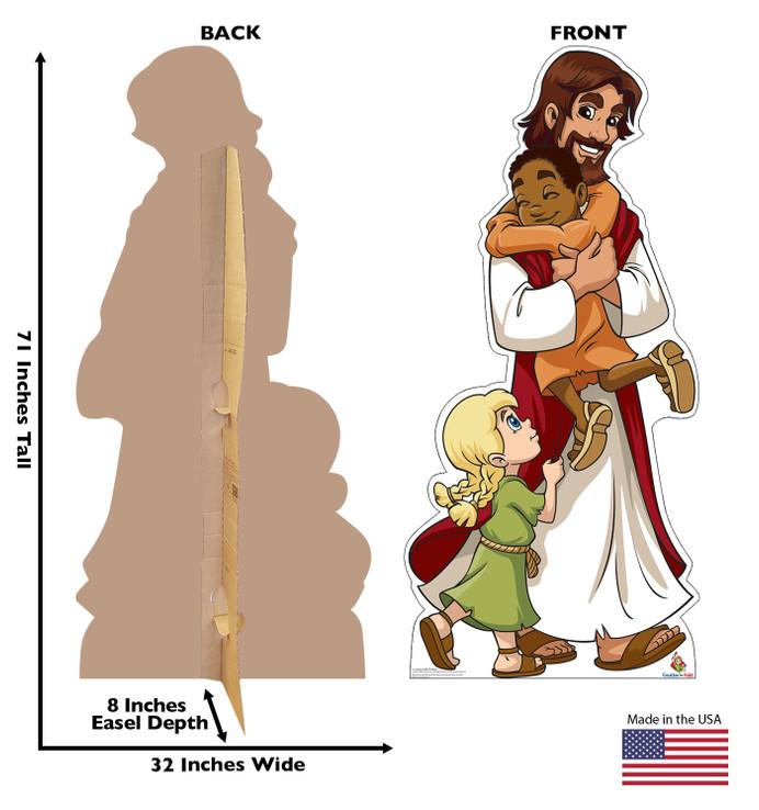 Jesus with Children Lifesize Cardboard Cutout