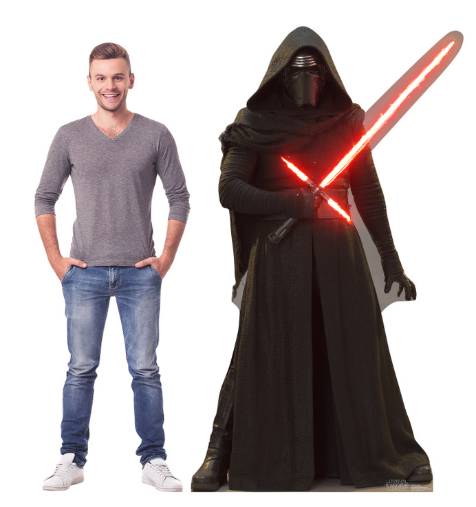 Kylo Ren - Star Wars VII The Force Awakens  Lifesize Cardboard Cutout  with Model