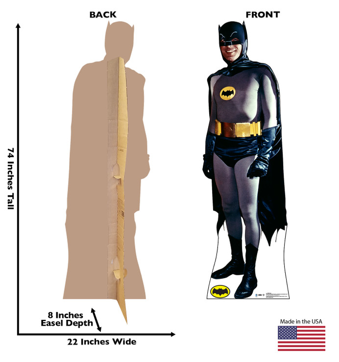 Batman -1969 TV Series - Batman and Robin  Lifesize Cardboard Cutout Dimensions