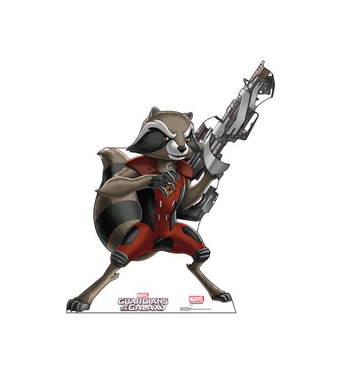 Rocket Raccoon - Guardians of the Galaxy - Animated Lifesize Cardboard Cutout