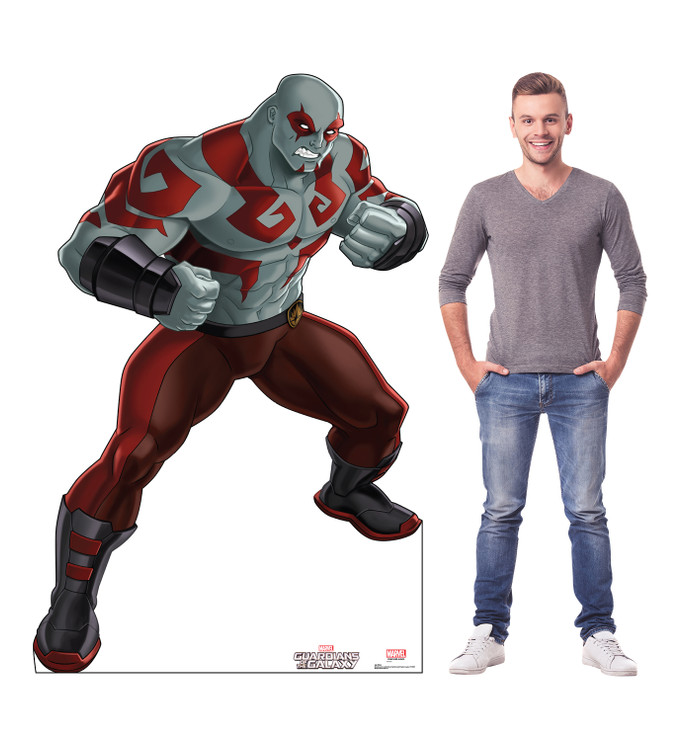 Drax - Guardians of the Galaxy - Animated Lifesize Cardboard Cutout with Model