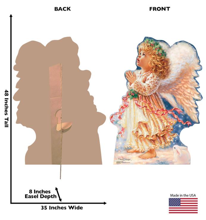Little Christmas Angel -Dona Gelsinger Art Lifesize Cardboard CutoutDimensions