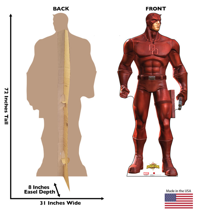 Daredevil - Marvel Lifesize Cardboard Cutout  Dimensions